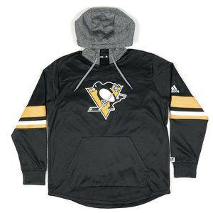 Pittsburgh Penguins NHL Adidas Black Yellow Hoodie